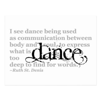 Dance Quote Postcard