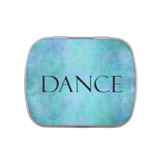 Dance Quote Teal Blue Watercolor Dancing Template Candy Tins