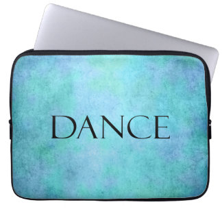 Dance Quote Teal Blue Watercolor Dancing Template Laptop Computer Sleeves