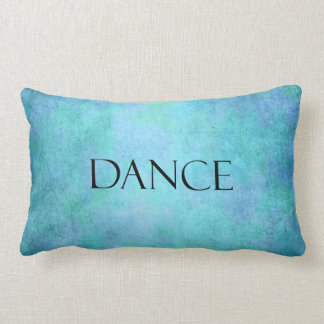 Dance Quote Teal Blue Watercolor Dancing Template Throw Pillow