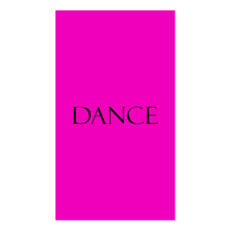 Dance Quotes Hot Pink Inspirational Dancing Quote Business Card