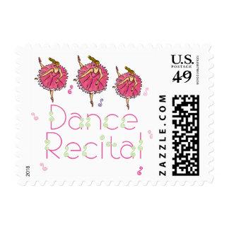 Dance Recital Ballerinas Postage