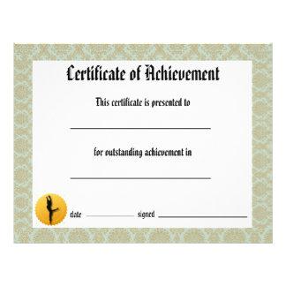Dance Recital Certificate of Achievement - Lyrical Flyer