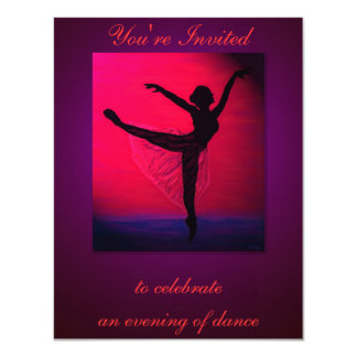 Dance Recital custom invitation