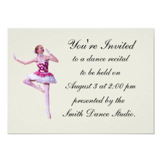 Dance Recital Invitation, Ballerina, Customizable Card