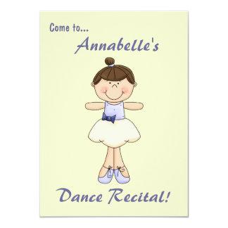 Dance Recital Invitation-Cute Ballerina Card