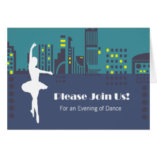 Dance Recital Invitation Notecard (Customizable) Greeting Card