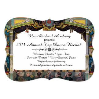 Dance Recital Vintage Theater Invitation