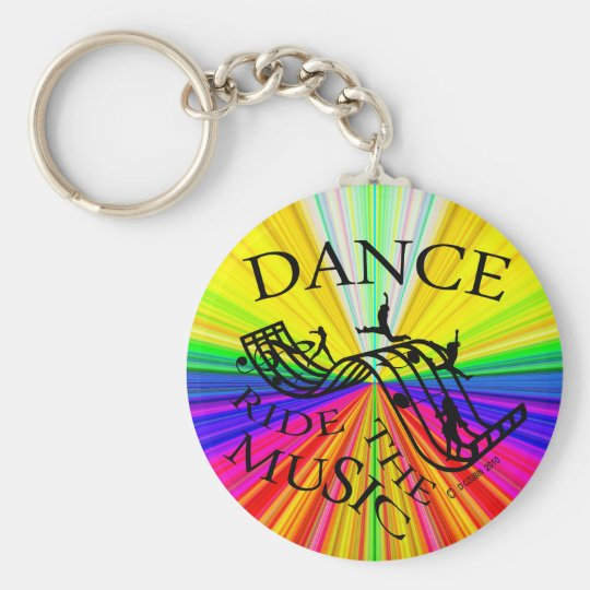 Dance Ride the Music! Keychain