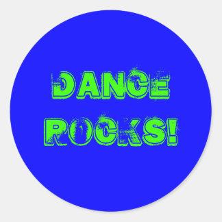 Dance Rocks! Classic Round Sticker