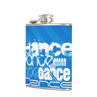 Dance; Royal Blue Stripes Hip Flask