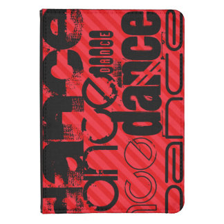 Dance; Scarlet Red Stripes Kindle Touch Cover
