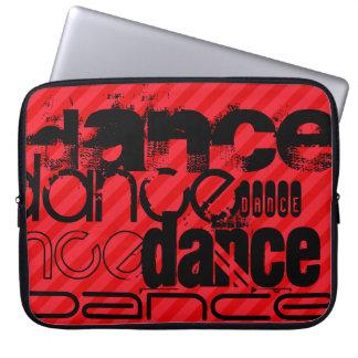 Dance; Scarlet Red Stripes Computer Sleeve