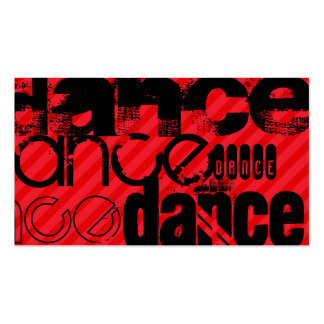 Dance; Scarlet Red Stripes Double-Sided Standard Business Cards (Pack Of 100)