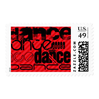 Dance; Scarlet Red Stripes Postage