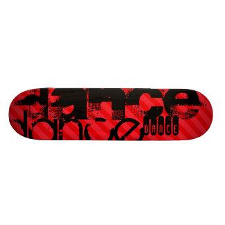 Dance; Scarlet Red Stripes Skate Board
