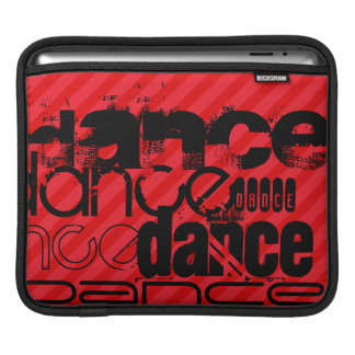 Dance; Scarlet Red Stripes Sleeves For iPads