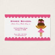 Dance School Business Card at Zazzle