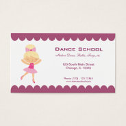 Dance School Business Card at Zazzle
