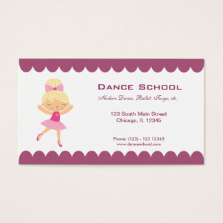 Dance School Business Card