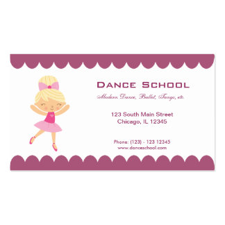 Dance School Double-Sided Standard Business Cards (Pack Of 100)