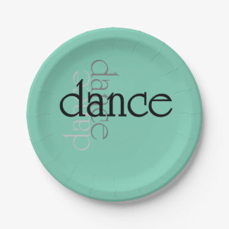 Dance Shadows Paper Plate