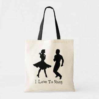 DANCE SHAG-BAG TOTE BAG