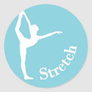 Dance Silhouette - Stretch Classic Round Sticker