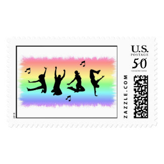 Dance Silhouettes Postage