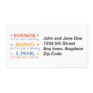 Dance Sing Live Labels