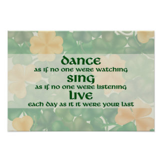Dance, Sing, Live Poster