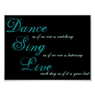 Dance sing live... poster
