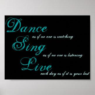 Dance sing live... print