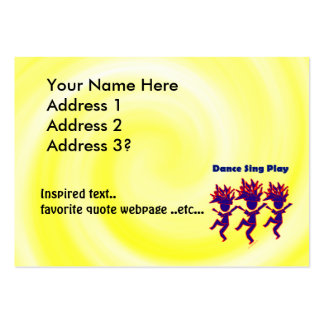 Dance Sing Play Large Business Cards (Pack Of 100)