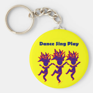 Dance Sing Play Key Chains