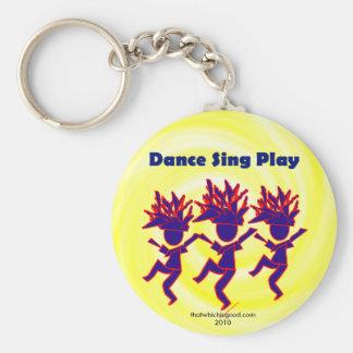 Dance Sing Play Keychain