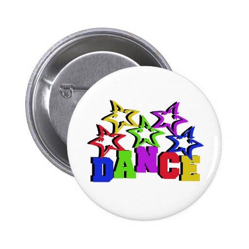 Dance Stars Pinback Buttons