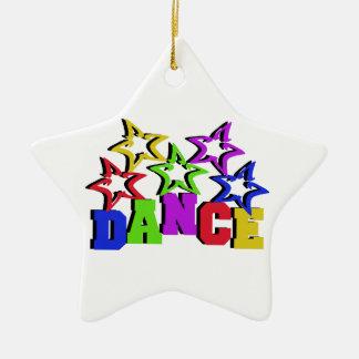 Dance Stars Ceramic Ornament