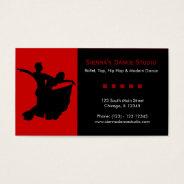 Dance Studio Business Card at Zazzle