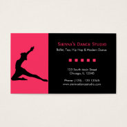 Dance Studio Business Card at Zazzle