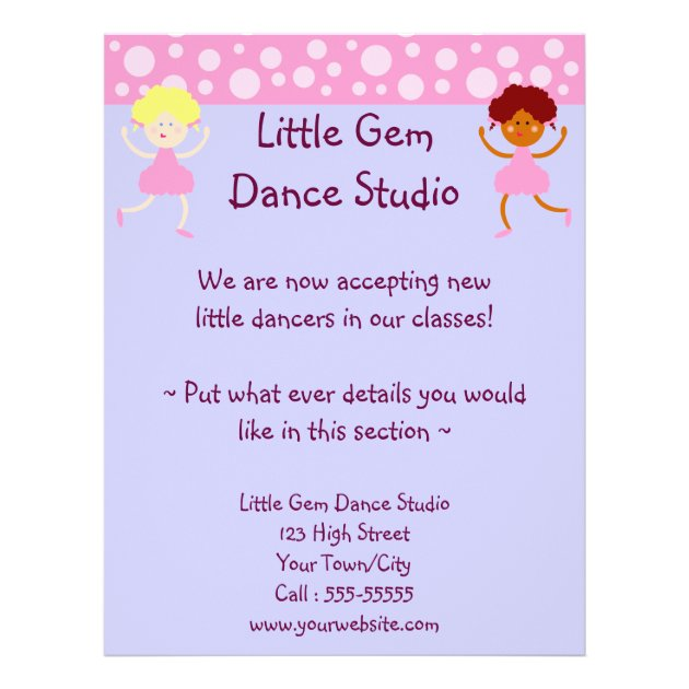 Dance Studio Business Flyer | Zazzle
