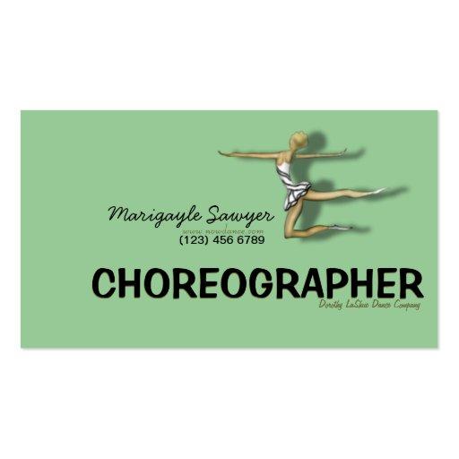 Dance studio choreographer dancer business card zazzle for Dance business cards