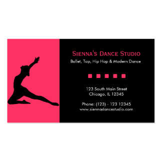 Dance Studio Double-Sided Standard Business Cards (Pack Of 100)