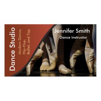 Dance Studio Instructor Template Business Card
