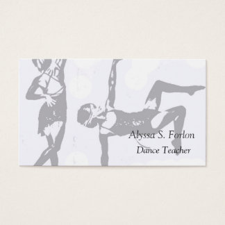 Dance Studio Personalized Business Cards