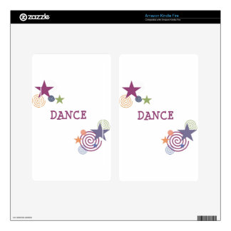 Dance Swirl Decal For Kindle Fire