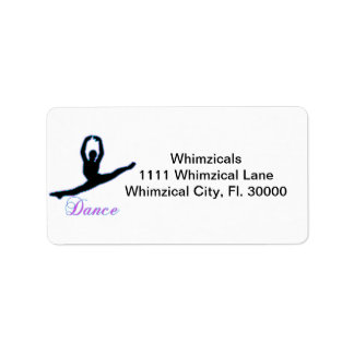 DANCE T Shirts & iPhone Gifts Address Label