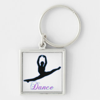 DANCE T Shirts & iPhone Gifts Silver-Colored Square Keychain