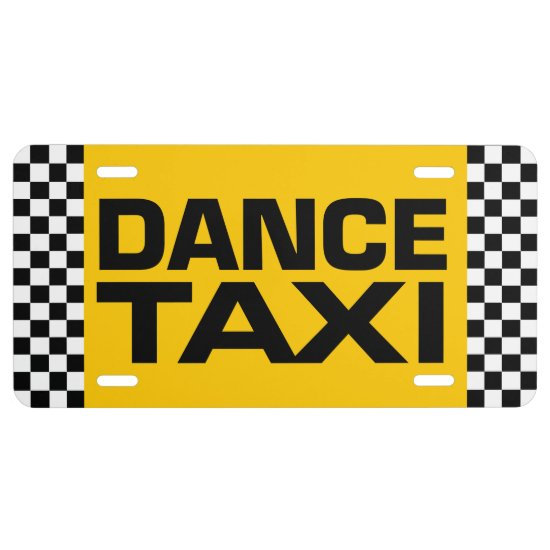 Dance Taxi License Plate