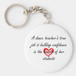 Dance Teacher - Building Confidence Basic Round Button Keychain